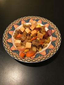 Finally, sautéed tofu (without oil)